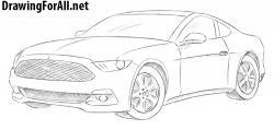 Drawn vehicle mustang