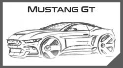 Drawn vehicle mustang gt