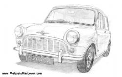 Drawn vehicle pencil for kid