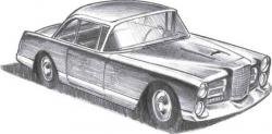 Drawn vehicle pencil shading