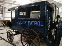 Drawn vehicle police car