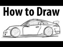 Drawn vehicle porsche