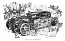 Drawn vehicle rat rod