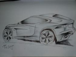 Drawn vehicle sports car