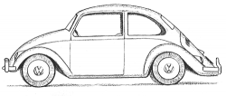 Drawn vehicle vw car