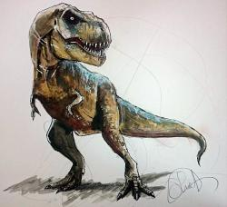 Drawn tyrannosaurus rex jurassic park