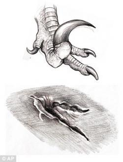 Drawn velociraptor utah