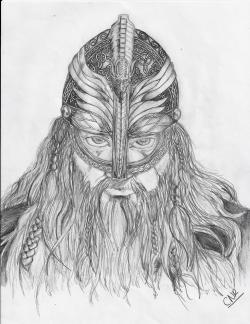 Drawn viking