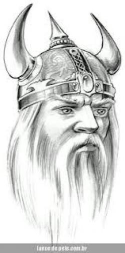 Drawn viking airbrush