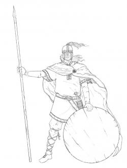 Drawn viking anglo saxon