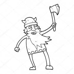 Drawn warrior cartoon
