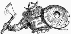Drawn viking comic