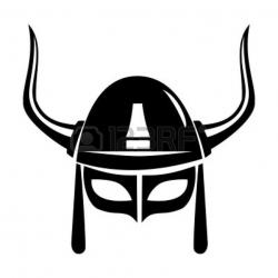 Drawn viking medieval helmet
