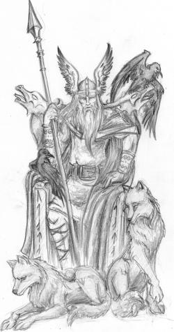 Drawn viking norse