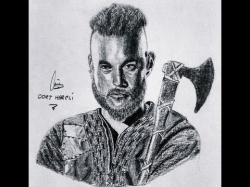Drawn viking realistic