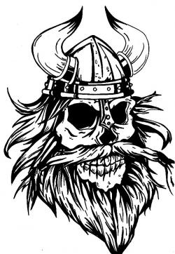 Drawn viking viking beard