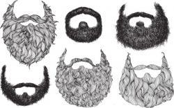 Drawn beard lumberjack beard