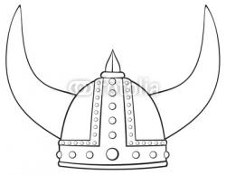 Drawn viking viking hat