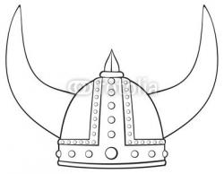 Drawn viking viking helmet