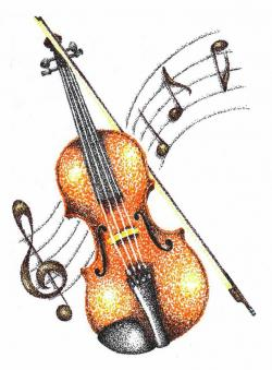 Drawn violin cartoon