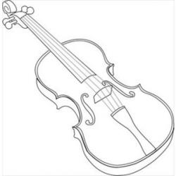 Drawn violin polyvore