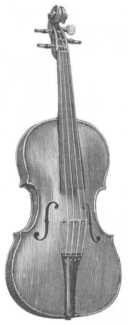 Drawn violin realistic