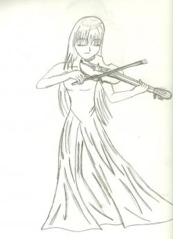 Drawn violinist anime