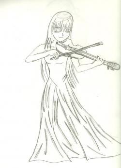 Drawn violinist anime