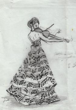 Drawn musician dress tumblr