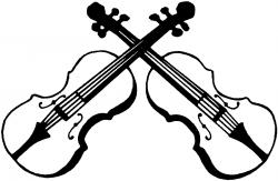 Drawn violinist black and white