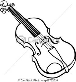 Drawn violinist cartoon
