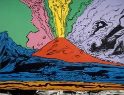 Drawn volcano andy warhol