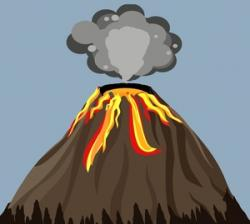 Smoking clipart volcanic eruption