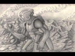 Drawn volcano sci fi