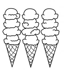 Drawn waffle cone colouring page