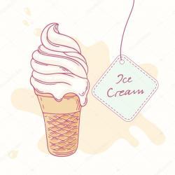 Drawn waffle cone food