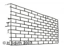 Drawn photos brick wall