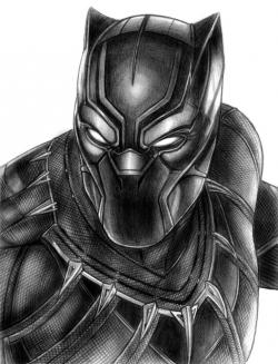Drawn panther black panther