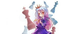 Drawn wallpaper chess anime