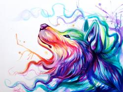 Drawn wallpaper colorful