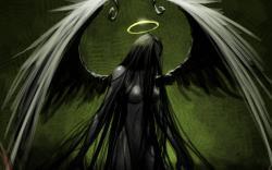 Drawn grim reaper angel wing