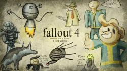 Drawn wallpaper fallout