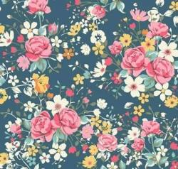 Drawn wallpaper floral
