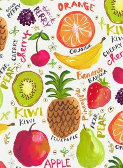 Drawn wallpaper fruit