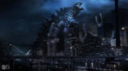 Drawn wallpaper godzilla