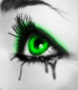 Drawn wallpaper green eye