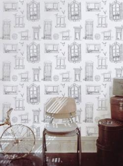 Drawn wallpaper illustrated