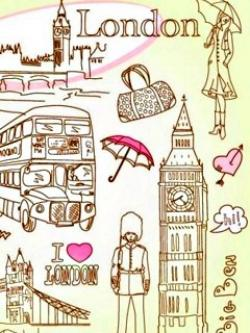 Drawn wallpaper london