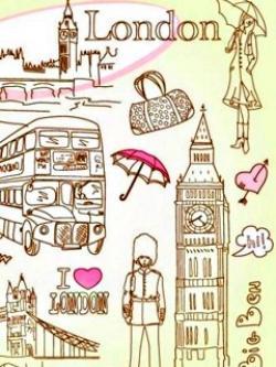 Drawn wallpaper london