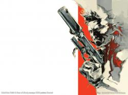 Drawn wallpaper metal gear solid